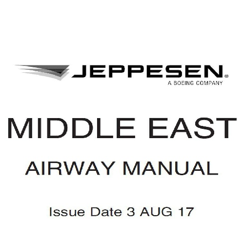 دانلود کتاب Jeppesen Airway Manual   Middle East AUG 2017