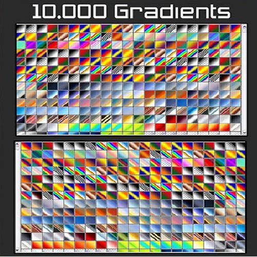 2051913 - دانلود 10،000گرادینت متنوع برای فتوشاپ
